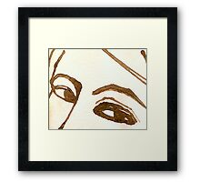 Woman Free Form in Ink 3 Framed Print