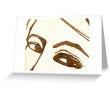 Woman Free Form in Ink 3 Greeting Card