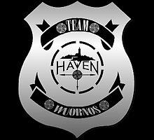 Haven Team Wuornos Silver Police Badge Logo by HavenDesign