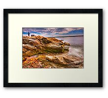 caught in the moment Framed Print