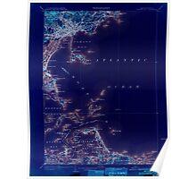 Massachusetts  USGS Historical Topo Map MA Boston Bay 352524 1903 62500 Inverted Poster