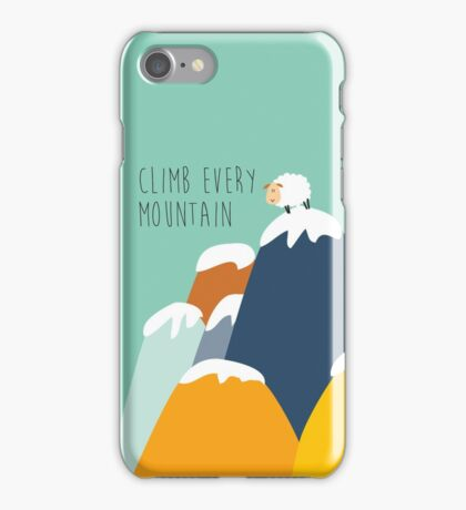 Sound of music - climb every mountain iPhone Case/Skin