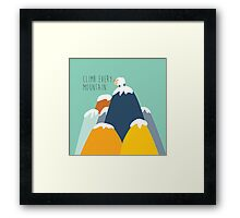 Sound of music - climb every mountain Framed Print