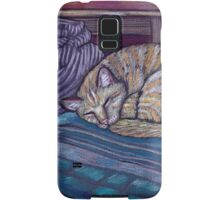 cat on a cushion  Samsung Galaxy Case/Skin