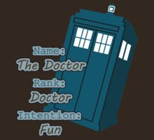 The Doctor - Name, Rank, and Intention by jemscribbles