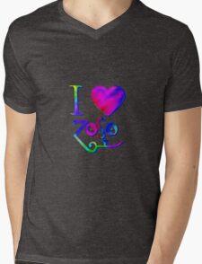 I Love ZoSo Mens V-Neck T-Shirt