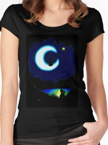 TALKING TO STARS Women's Fitted Scoop T-Shirt