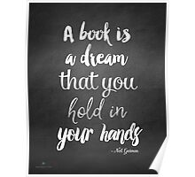 Neil Gaiman quote, Literary Quote, black and white Print, Quote print, Poster