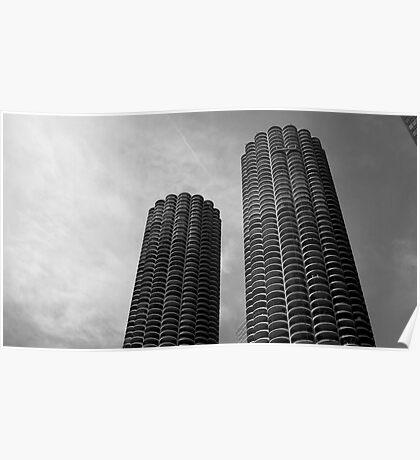 Marina City Chicago USA Poster