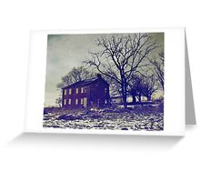 What Once Was a Warm Comfy Farmstead. Greeting Card