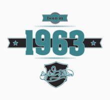 Born in 1963 (Blue&Darkgrey) Kids Clothes