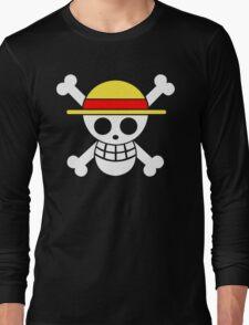 One Piece Monkey D. Luffy Mugiwara Strawhats Pirates Anime Cosplay T Shirt Long Sleeve T-Shirt