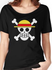 One Piece Monkey D. Luffy Mugiwara Strawhats Pirates Anime Cosplay T Shirt Women's Relaxed Fit T-Shirt