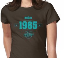 Born in 1965 (Blue&Darkgrey) Womens Fitted T-Shirt