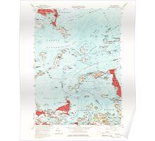 Massachusetts  USGS Historical Topo Map MA Hull 350220 1958 24000 Poster
