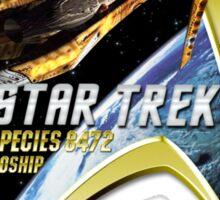 Star Trek  Species 8472 bioship Com Badge Sticker