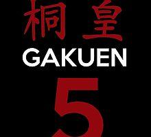 Kuroko No Basket Basuke Gakuen 5 Cosplay Jersey Anime T Shirt by zombiehorde