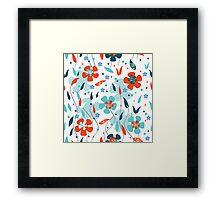 Blue Poppies Framed Print