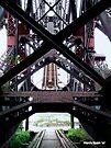 Abandoned Jacknife Bridge - Cleveland Flats by Marcia Rubin