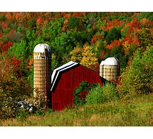 Fall on the Farm Photographic Print