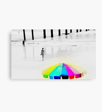 Hot Summer Day at the Beach Canvas Print