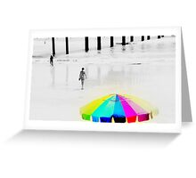 Hot Summer Day at the Beach Greeting Card