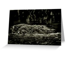 Gator Grin Greeting Card