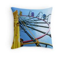 Round and Round She Goes Throw Pillow