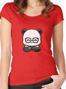 Geek Chic Panda Women's Fitted Scoop T-Shirt
