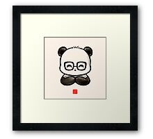 Geek Chic Panda Framed Print