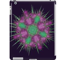 Purple Green Scottish Thistle Flower Design iPad Case/Skin