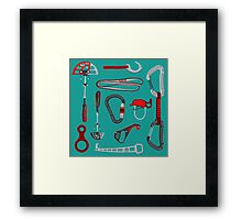 Climbing Equipment Design Framed Print