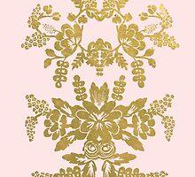 Gilded & Pink Flower Notebook by rosiestelling