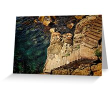 Stairway to the Sea Greeting Card
