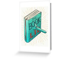 The Book Of Lies Greeting Card