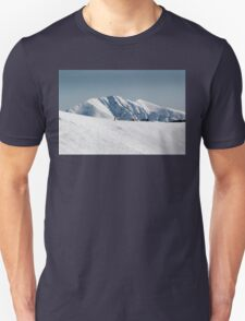 Snow on the mountainside 2 Unisex T-Shirt