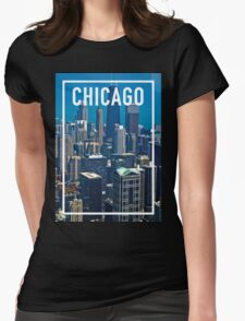 CHICAGO FRAME Womens Fitted T-Shirt