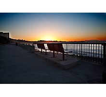 Ventura Beach boardwalk, morning Photographic Print
