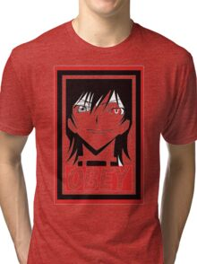 Code Geass Lelouch Obey Anime Cosplay T Shirt Tri-blend T-Shirt
