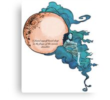 The Moons Shoulder by Taija and Ry  Canvas Print
