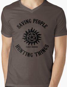 Saving People Hunting Things Mens V-Neck T-Shirt