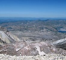 Mt St Helens Crater  by Don Siebel