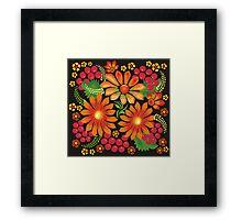 Flowers drawn in Ukrainian style Framed Print