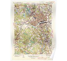 Massachusetts  USGS Historical Topo Map MA Lawrence 351828 1944 31680 Poster