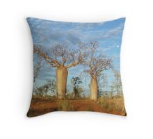 Boabs at Auvergne Station Throw Pillow
