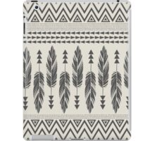 Monochrome Tribal Feathers iPad Case/Skin