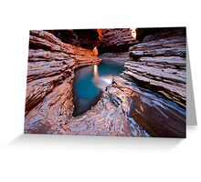 """Kermits Pool"" Karijini National Park, Western Australia Greeting Card"