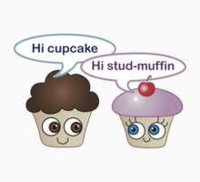 Hi cupcake, hi stud-muffin Kids Clothes