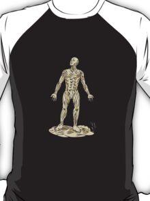Human Muscle Anatomy Etching T-Shirt