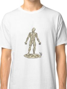 Human Muscle Anatomy Etching Classic T-Shirt